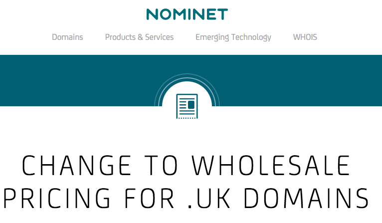 Nominet price increase